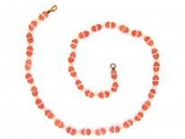Coral, Natural Pearl & Rock Crystal Beaded Necklace