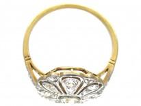 Edwardian Openwork Diamond Oval Cluster Ring