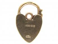 Opening Padlock Heart Charm