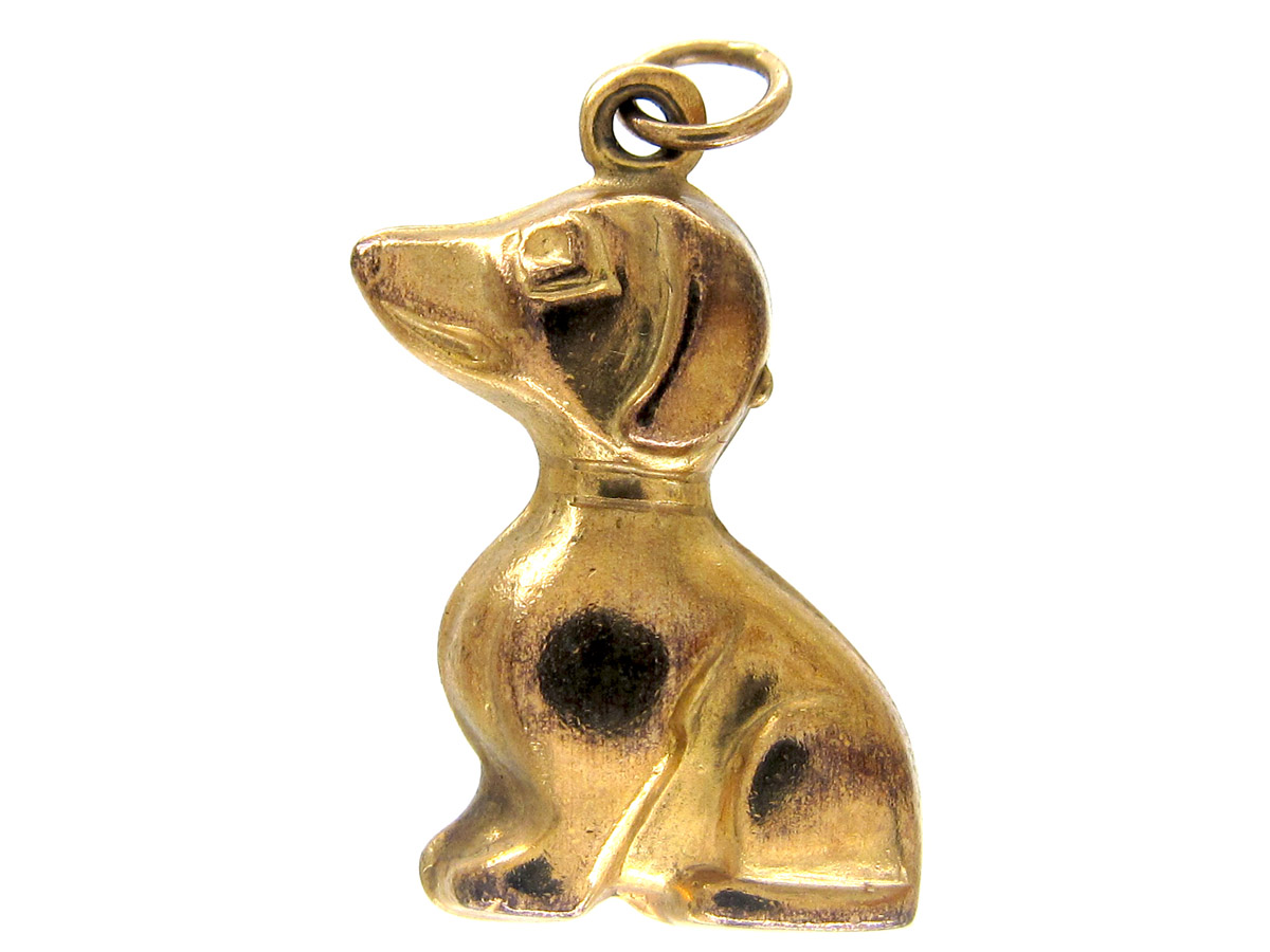 9ct Gold Faithful Dog Charm