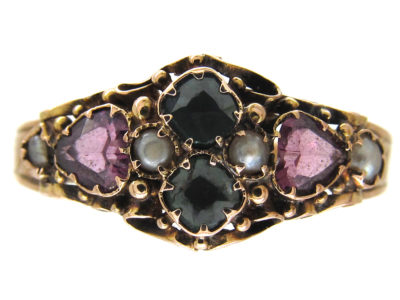 Victorian Double Hearts 15ct Gold Ring