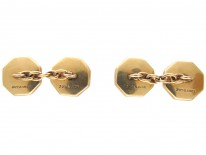 9ct & 18ct Gold, Diamond & Mother of Pearl Art Deco Cufflinks