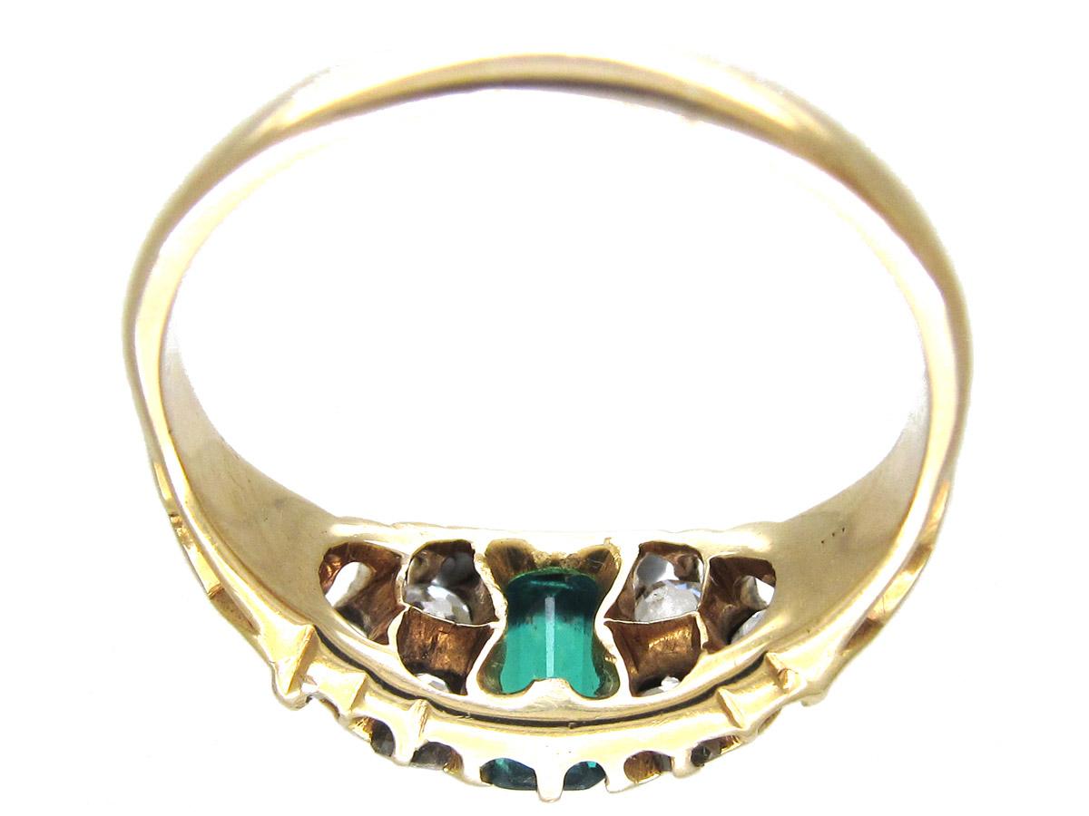 Victorian Emerald & Diamond Ring