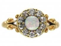 Edwardian Opal & Diamond Cluster Ring.