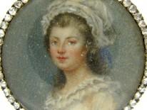 Miniature of Lady in Diamond Set Mount Brooch