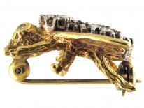Diamond & 18ct Gold Bug Brooch