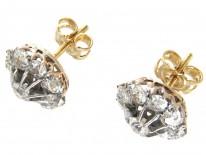 Edwardian Diamond Cluster Earrings