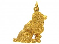 15ct Gold Poodle Charm