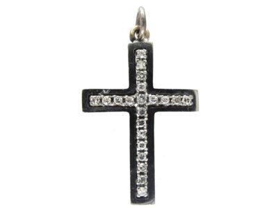 18ct White Gold & Diamond Cross