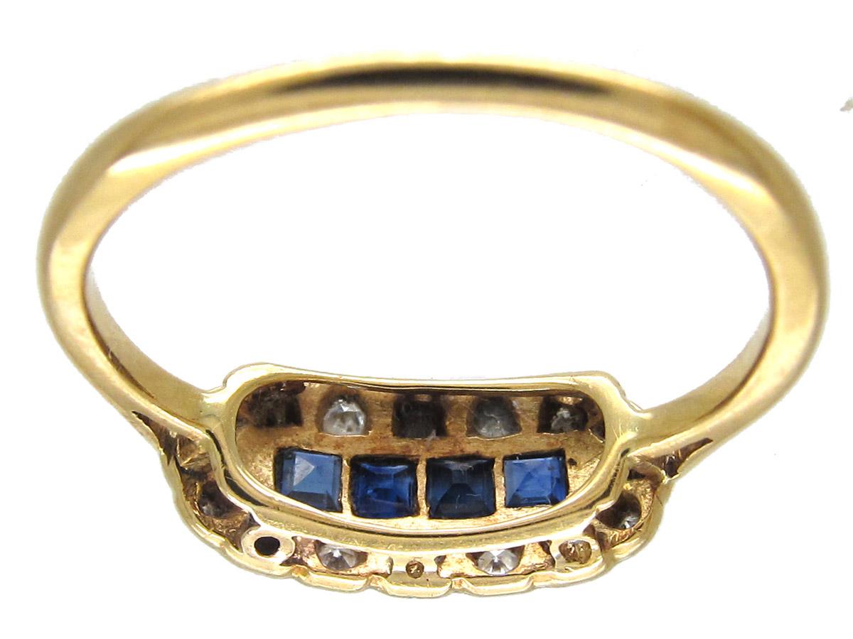 Art Deco Sapphire & Diamond Ring