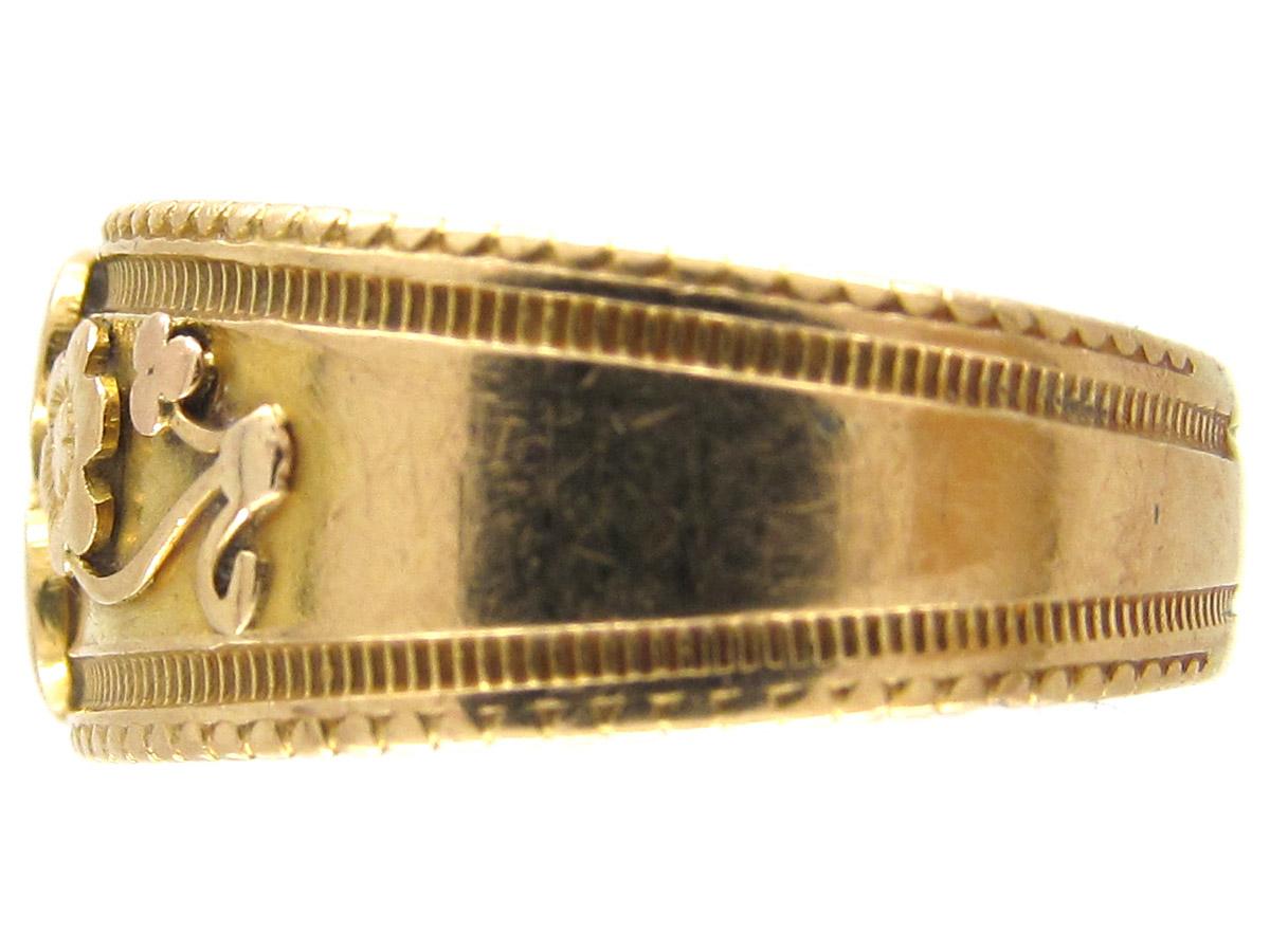 Victorian Diamond Flower Ring