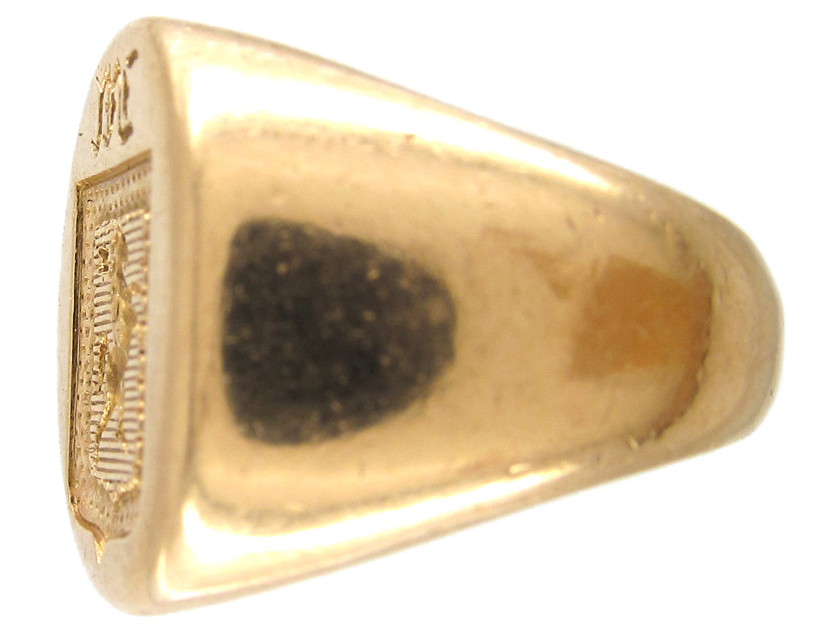 18ct Gold Victorian Intaglio Signet Ring of a Rearing Horse