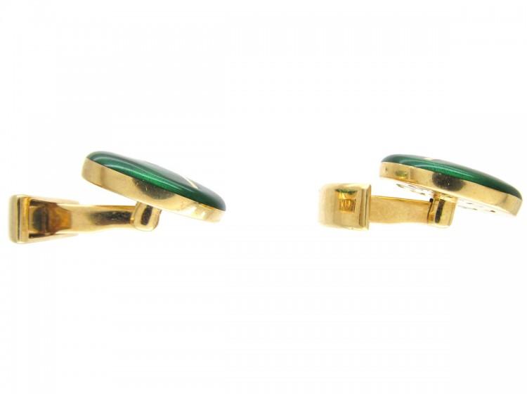 18ct Gold & Enamel Lawn Tennis Cufflinks