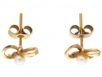 9ct Gold Bow Earrings