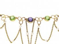 15ct Gold Suffragette Festoon Necklace