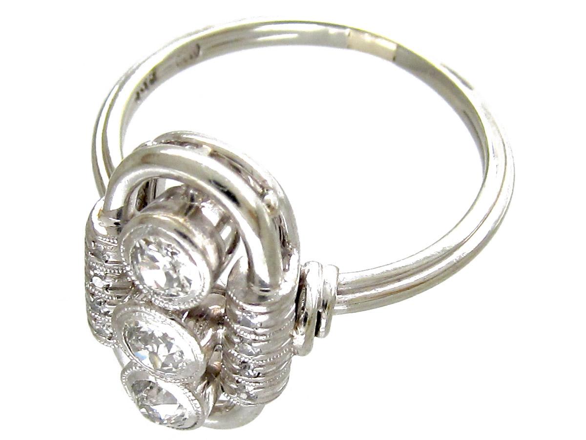 Art Deco Oval Shaped Diamond Ring