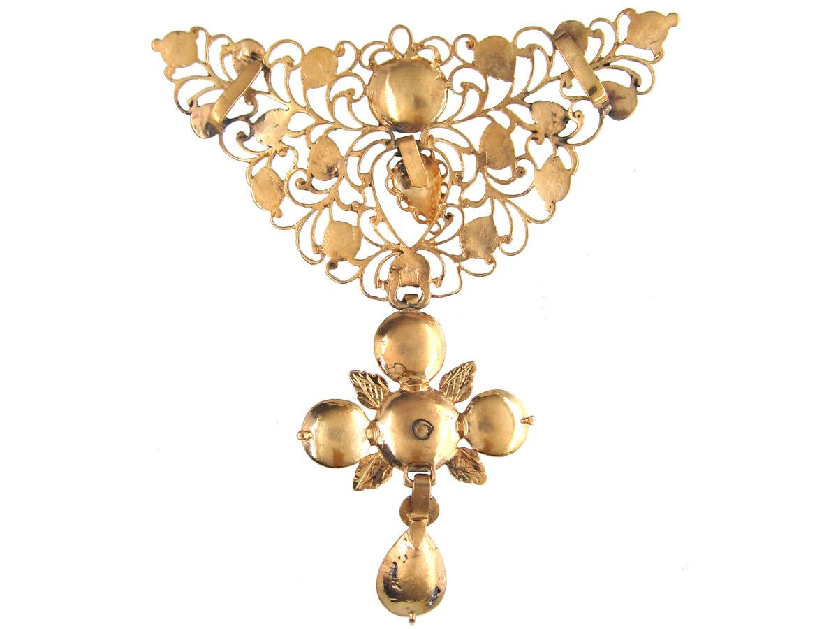 Early 18th Century Spanish Diamond & Gold Pendant