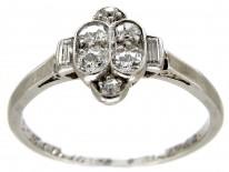 Diamond Art Deco Ring