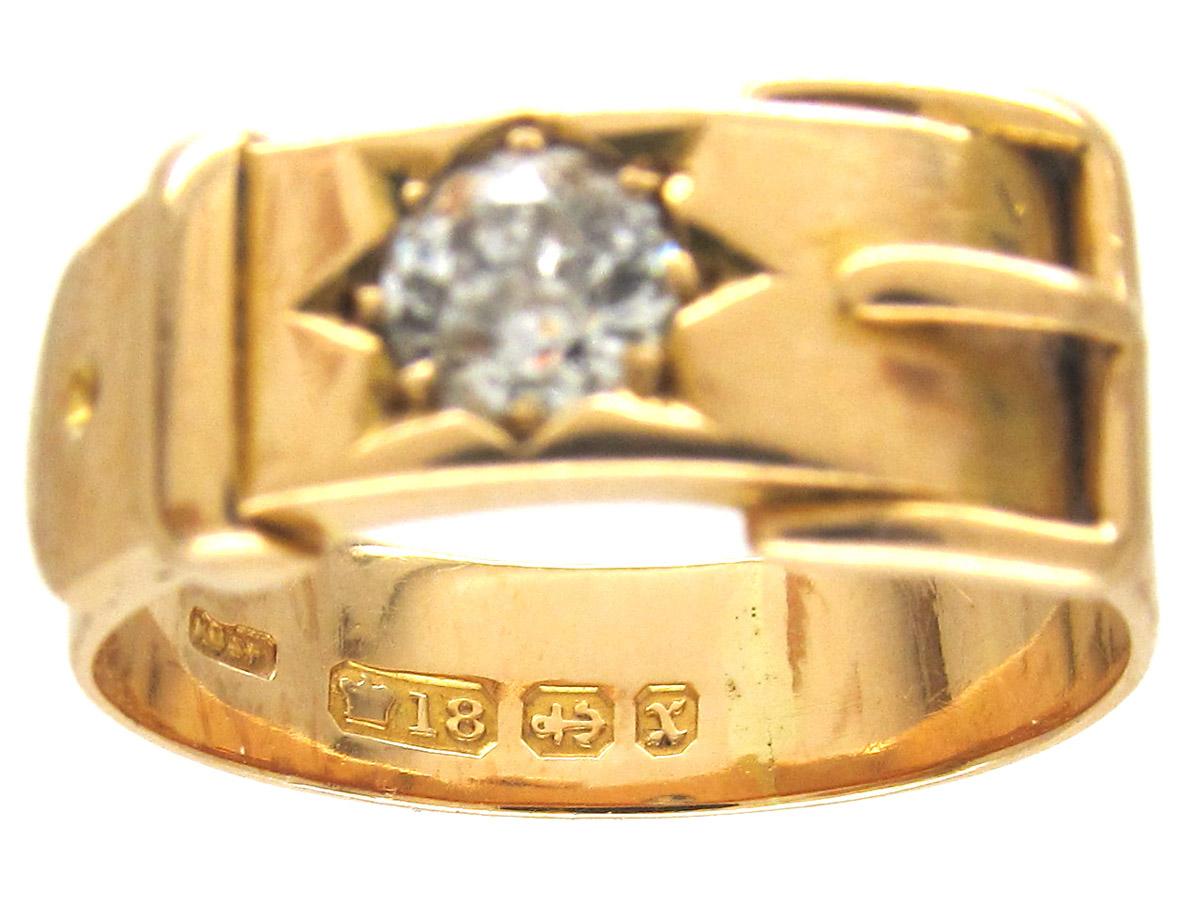 Victorian Diamond Set Buckle Ring