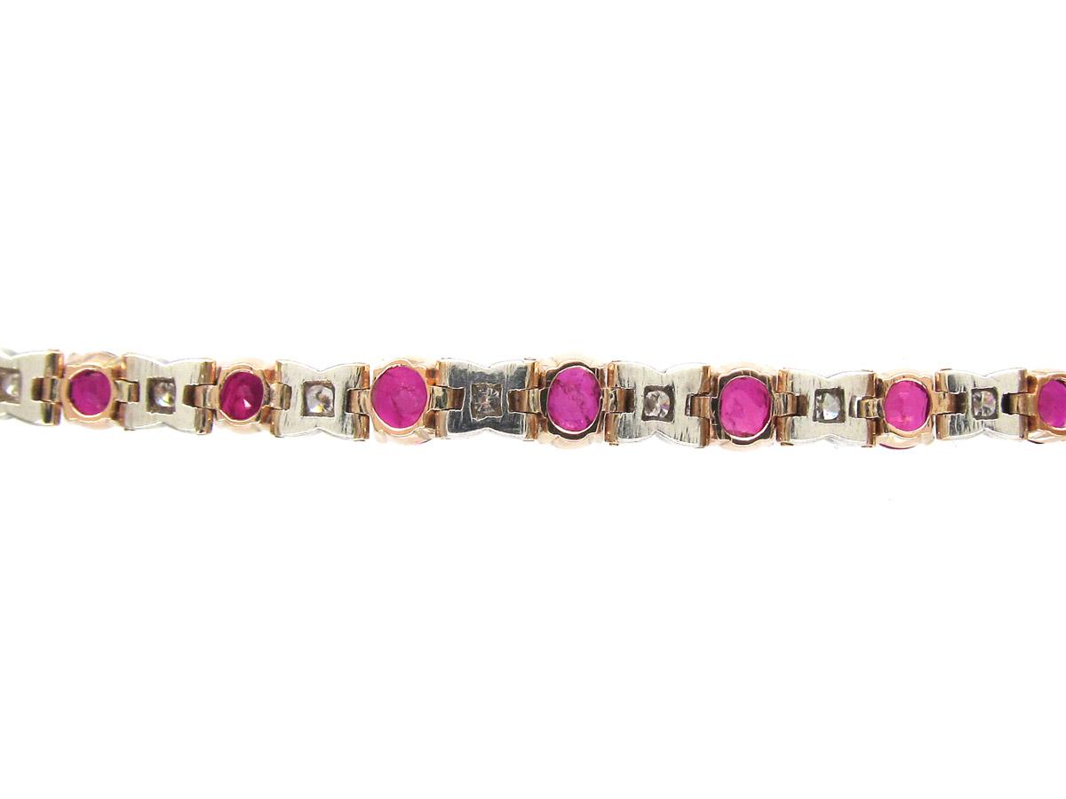 18ct Gold, Ruby & Diamond Bracelet