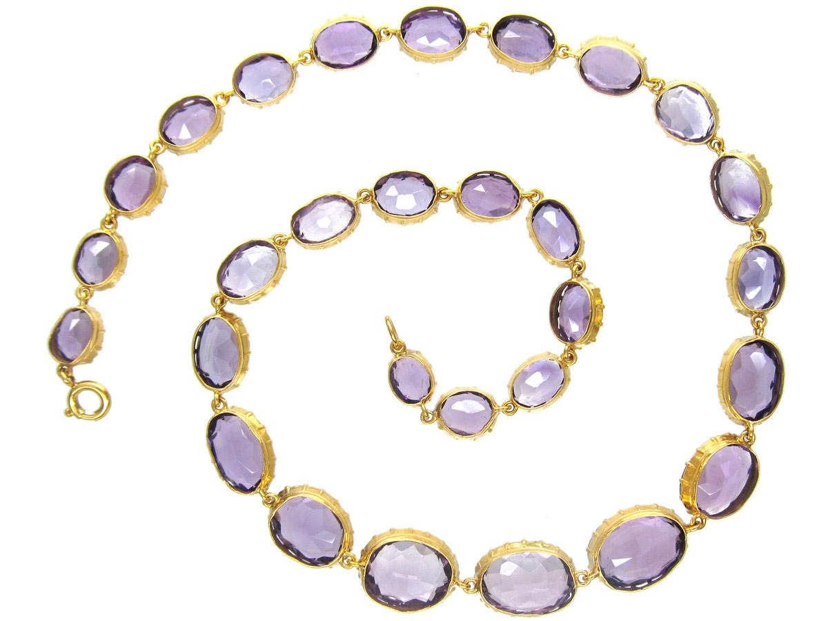 Regency 15ct Gold Amethyst Necklace