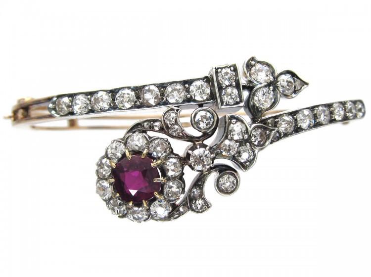 Ruby & Diamond Edwardian Bangle
