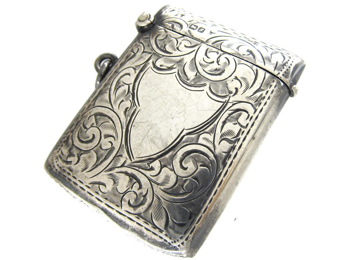 Edwardian Silver Vesta Case Pendant