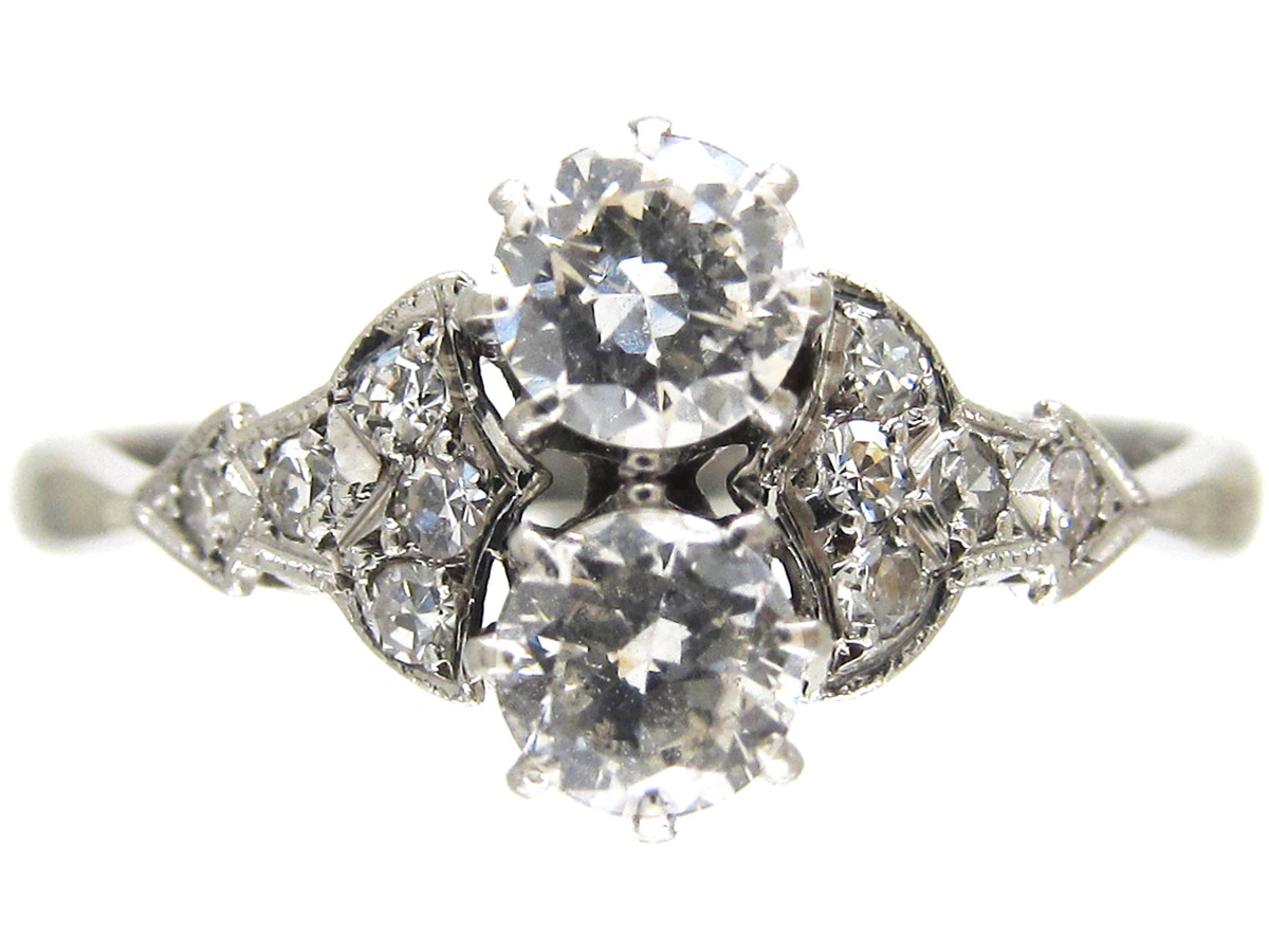 Art Deco Two Stone Diamond Ring