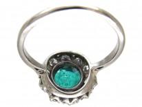 Emerald & Diamond Cluster Ring