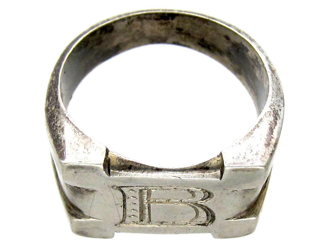 Silver B Ring