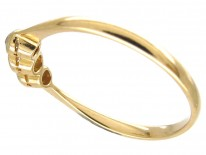 Small Three Stone Diamond Edwardian Ring