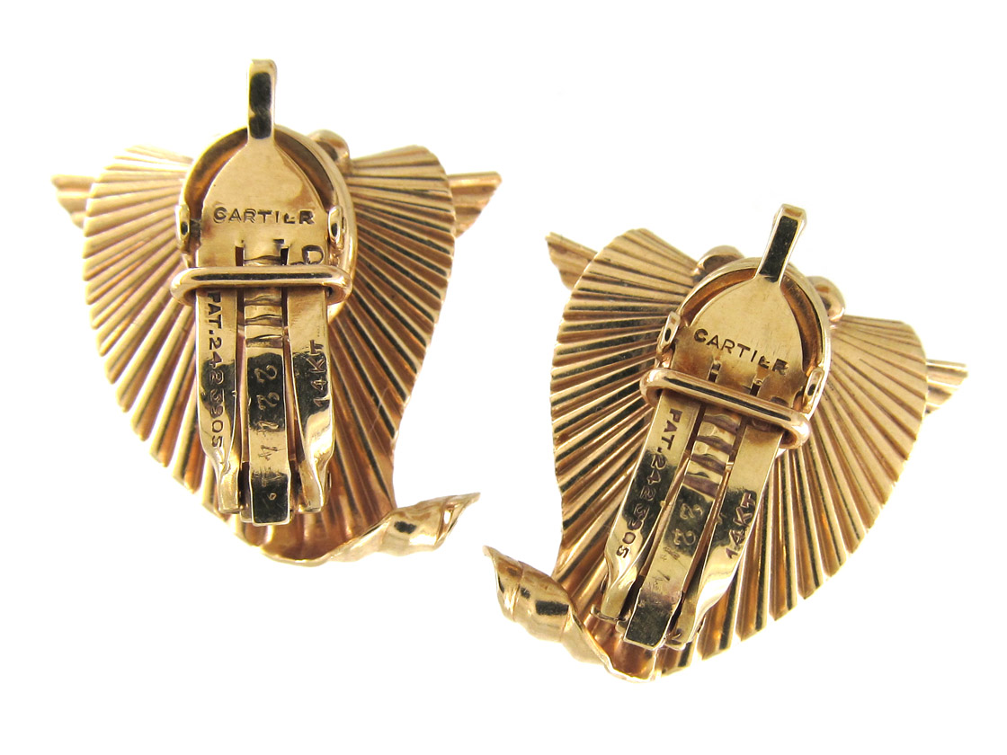 Cartier 14ct Gold Earrings by George Schuler