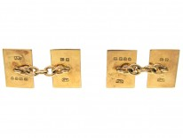 18ct Gold Art Deco Enamel Cufflinks by Cropp & Farr
