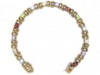 Silver Gilt Multi Stone Bracelet