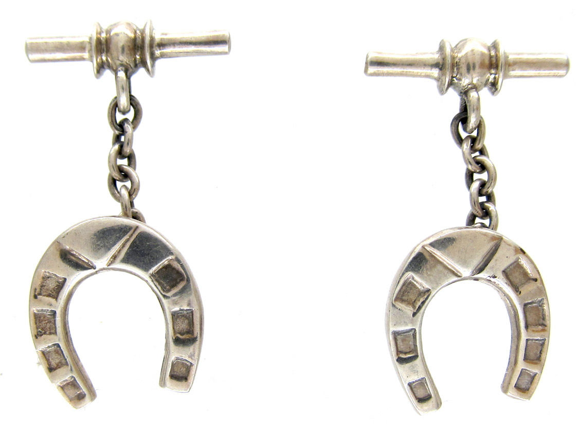 Silver Horseshoe Cufflinks