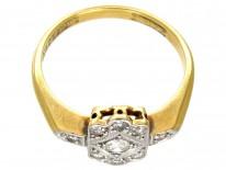 Art Deco Diamond 18ct Gold & Platinum Ring