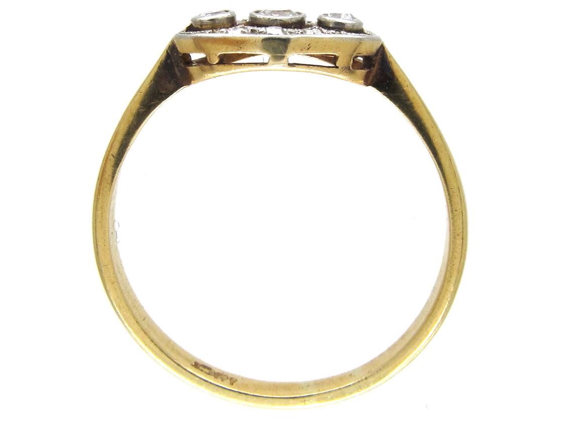 Art Deco Triple Diamond Ring