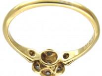 Edwardian Diamond Cluster Ring with Diamond Sides