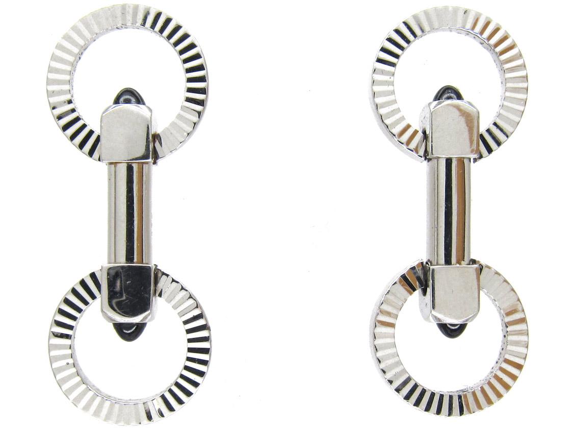 Silver Cartier Style Stirrup Cufflinks