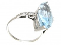 Marquise Aquamarine & Diamond Ring by Boodles