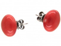 Coral Bouton Earrings