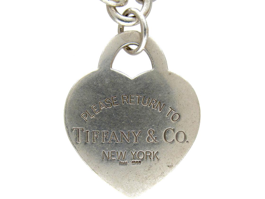Tiffany Silver Heart Tag Bracelet