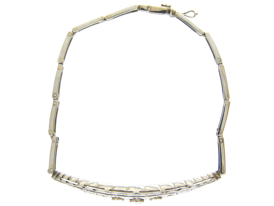 Edwardian 18ct White Gold & Diamond Bracelet