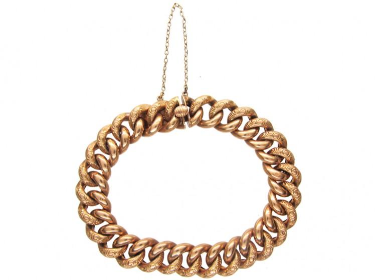14ct Gold Curb Link Bracelet