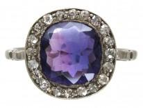 Edwardian Amethyst & Diamond Ring