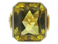 Synthetic Yellow Sapphire 18ct Gold Ring