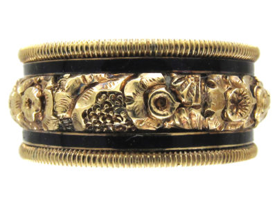 Georgian 18ct Gold & Enamel Mourning Ring