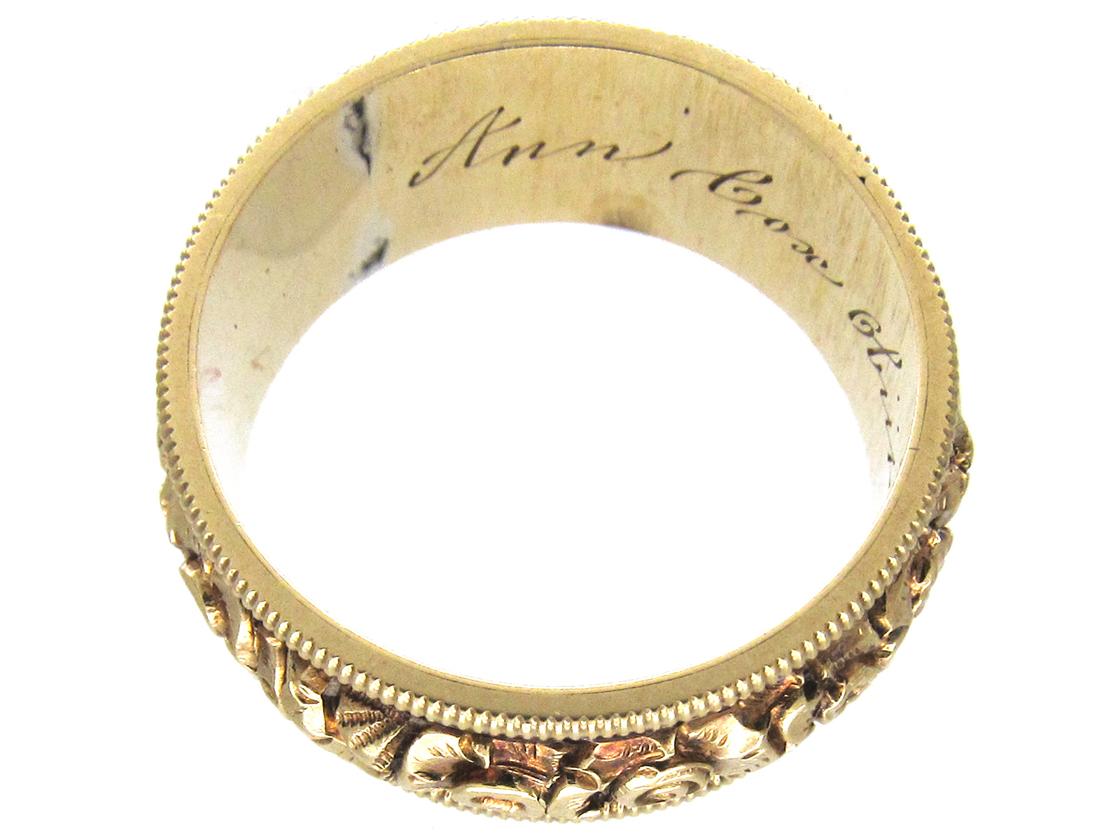 Georgian 18ct Gold & Enamel Mourning Ring
