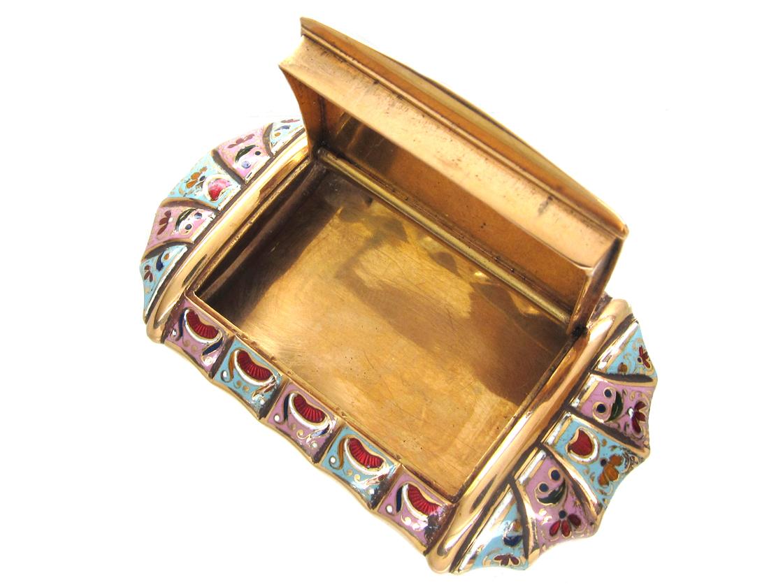 Early 19th Century Swiss Enamel Gold Box