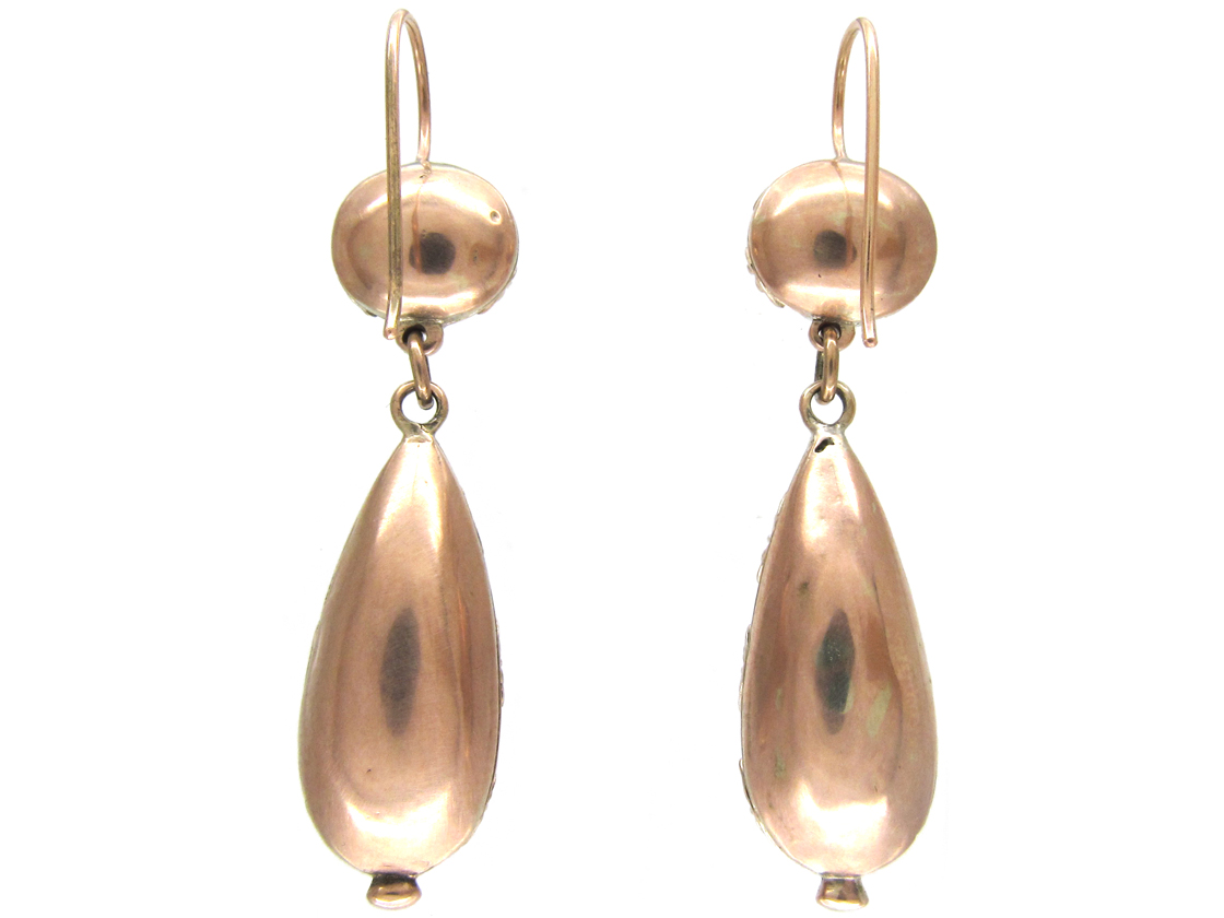 Georgian Foiled Amethyst Drop Earrings